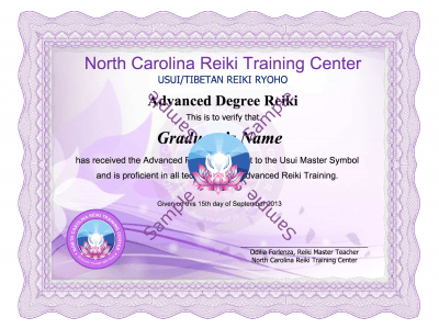 Advnaced Reiki Certification Class lessons