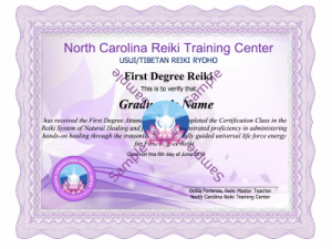 Reiki 1 Certification Classs lessons
