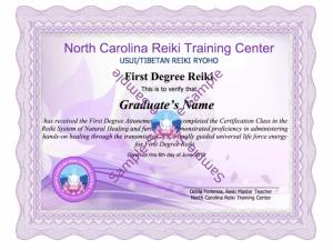 Reiki-I-Certificate class training