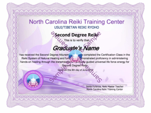 reiki 2 training class North Carolina