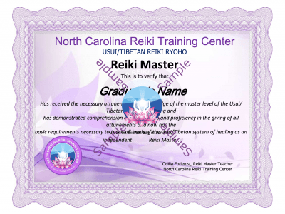 Reiki Master Certification Classs lessons