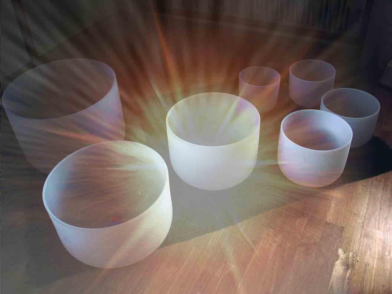 Frosted Crystal Bowl Chakra Sets - North Carolina Reiki ... Quartz Crystal Bowls